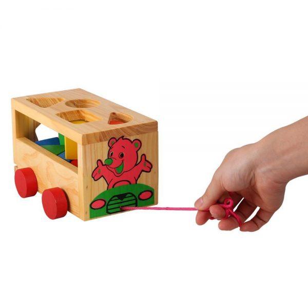 đồ chơi gỗ xe thả khối học hình