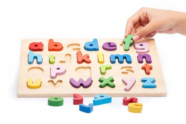 Đồ chơi gỗ bảng chữ cái tiếng anh thường