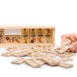 Đồ chơi domino động vật bằng gỗ
