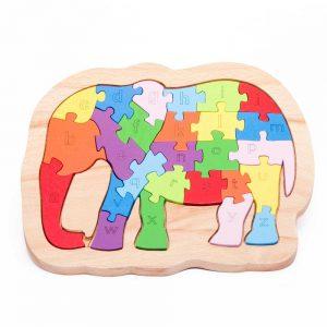Tranh ghép con voi, puzzle animal
