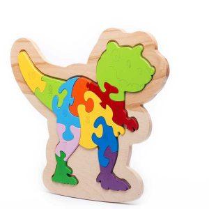 Tranh ghép khủng long Trex bằng gỗ