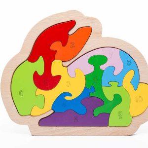 tranh ghép thỏ con puzzle animal