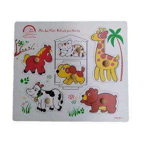 tranh có chốt các loài động vật cho bé