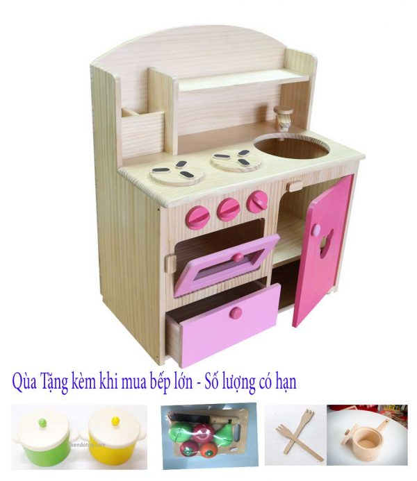 Đồ chơi nhà bếp nấu ăn bằng gỗ