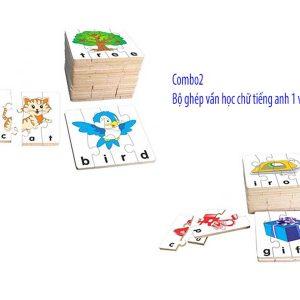 Bộ ghép hình học chữ 1 và 2