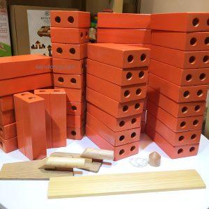 Gạch gỗ xây dựng đồ chơi