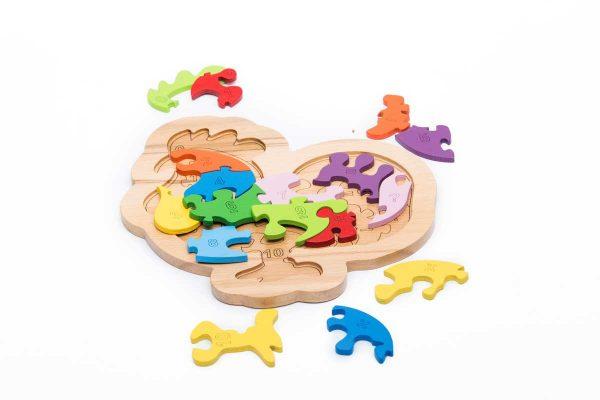 Tranh ghép hình puzzle animal gà trống