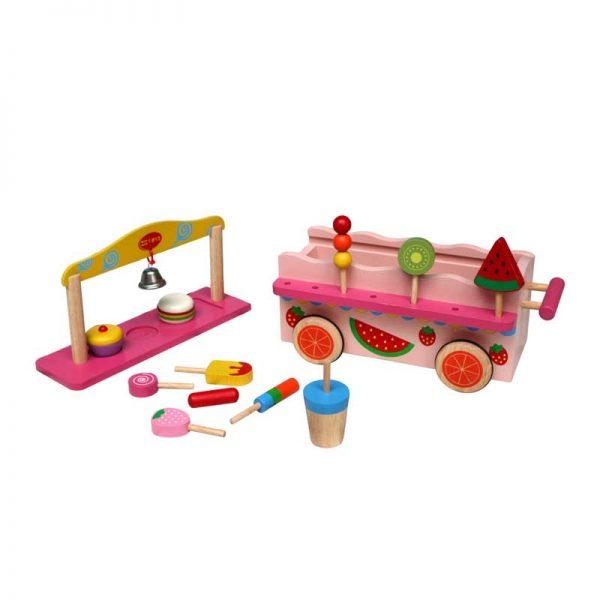 Đồ chơi gỗ xe bán hàng di động