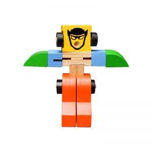 Xe biến hình robot bằng gỗ