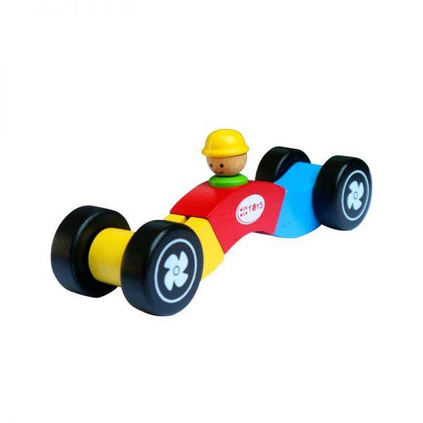 Xe đua biến hình đồ chơi gỗ