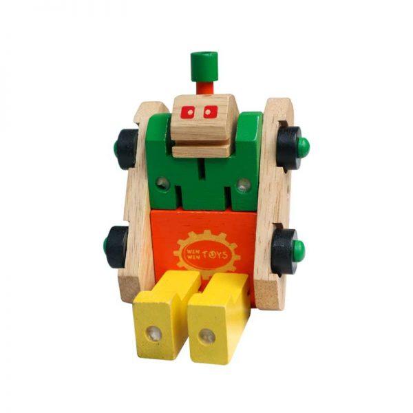 Xe tăng biến hình đồ chơi gỗ