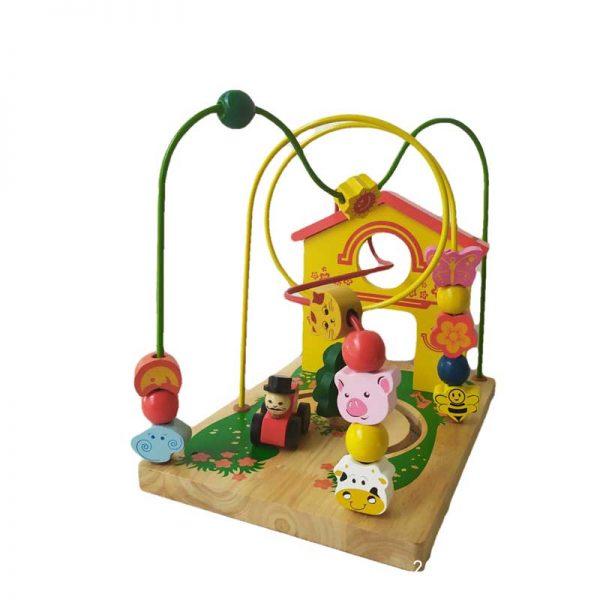 Đồ chơi luồn hạt vườn thú đa năng bằng gỗ