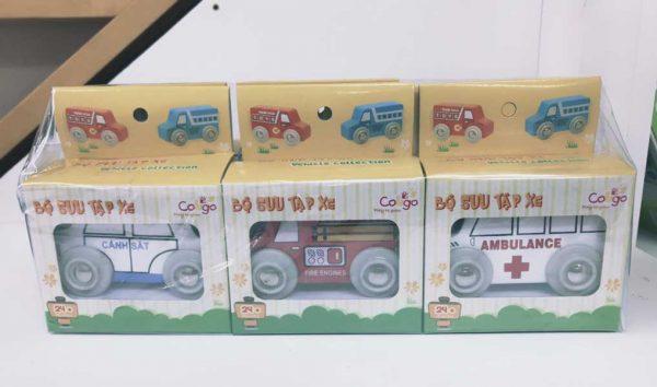 xe sưu tập đồ chơi gỗ cho bé