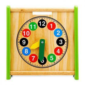 Đồng hồ hai mặt đồ chơi bằng gỗ