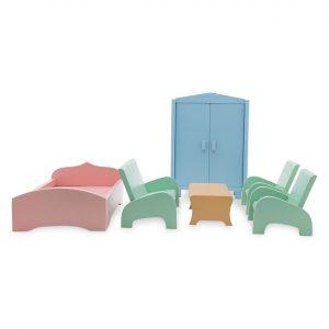 Bộ bàn ghế giường tủ đồ chơi nhà búp bê