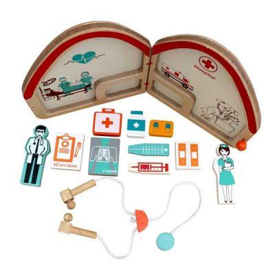 đồ chơi bác sĩ bằng gỗ