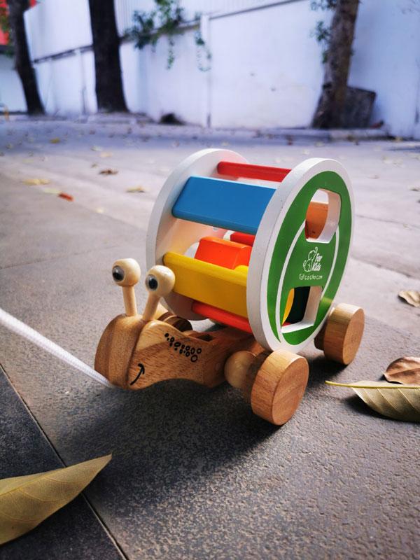 xe kéo ốc sên thả hình khối