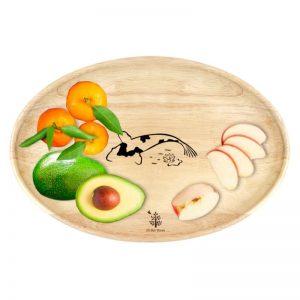Đĩa gỗ oval