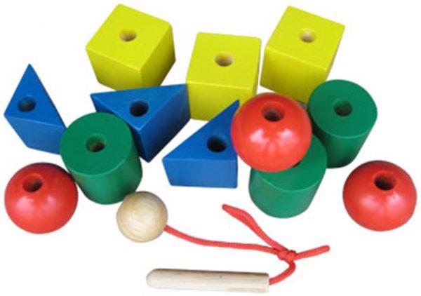Đồ chơi xâu hạt gỗ