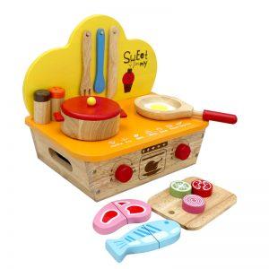 bếp đồ chơi nấu ăn gỗ