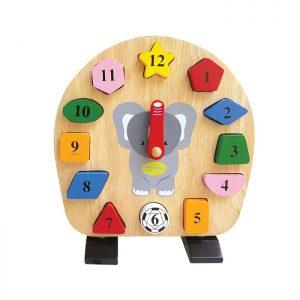 đồng hồ voi con đồ chơi gỗ