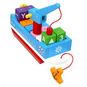 thuyền tri thức đồ chơi gỗ