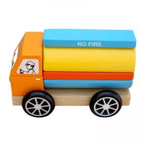 Xe bồn lắp ráp đồ chơi gỗ