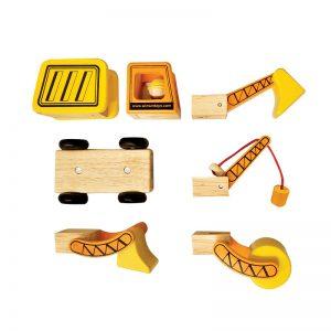 Xe công trình đa năng đồ chơi gỗ