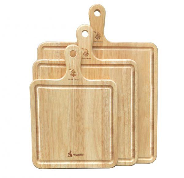 thớt gỗ vuông có tay cầm