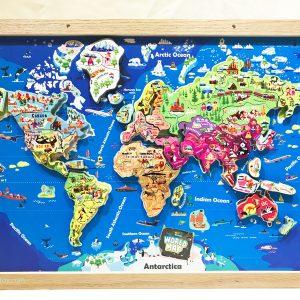 bản đồ thế giới lắp ráp nam châm