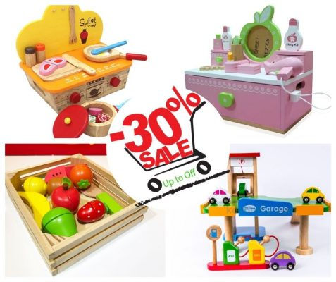 khuyến mãi giảm giá đồ chơi gỗ