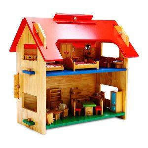 Nhà búp bê đồ chơi gỗ