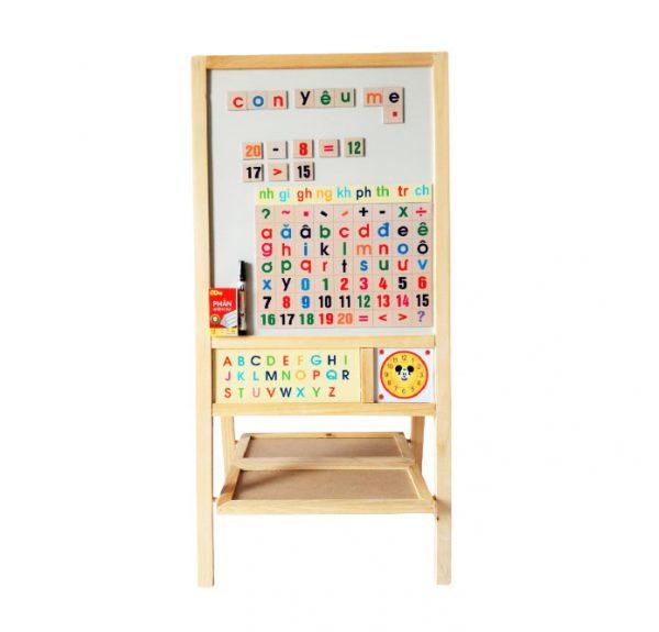 Bảng xếp học chữ và số nam châm hai mặt