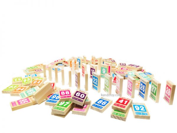 domino 100 số bằng gỗ
