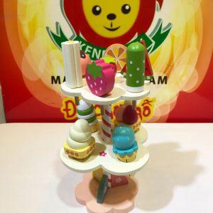 Tháp bánh kẹo đồ chơi gỗ