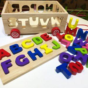 Xe kéo thả chữ Tiếng Anh