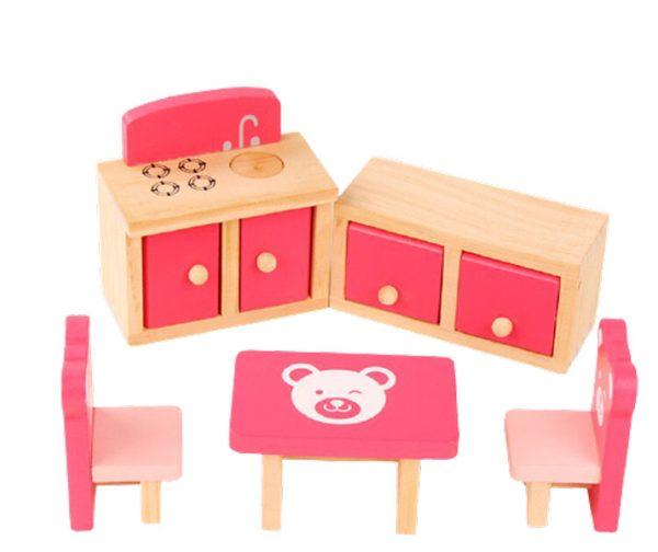 Đồ chơi nhà búp bê bằng gỗ