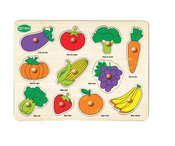 Tranh nhận dạng rau củ quả