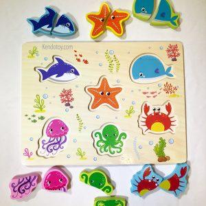 Tranh ghép hình sinh vật biển