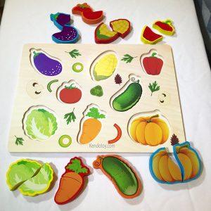 Tranh ghép hình trái cây