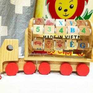 xe tải học chữ và số