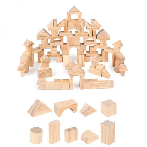 Xếp hình 100 khối gỗ