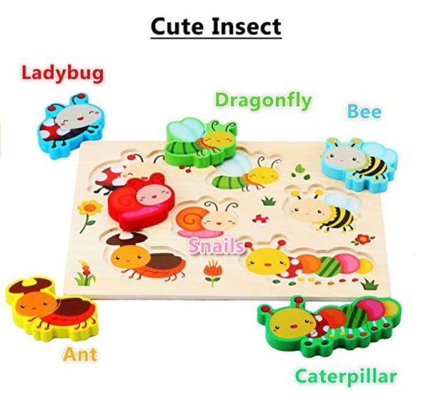 Tranh ghép nhận dạng côn trùng cho bé khám phá