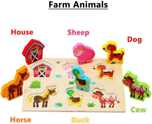 Tranh ghép hình nông trại đồ chơi cho bé