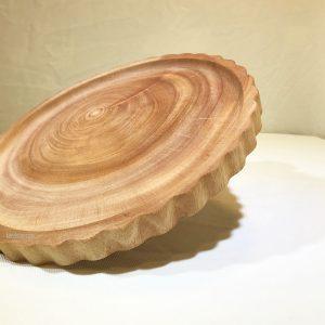 Khay gỗ tròn xà cừ