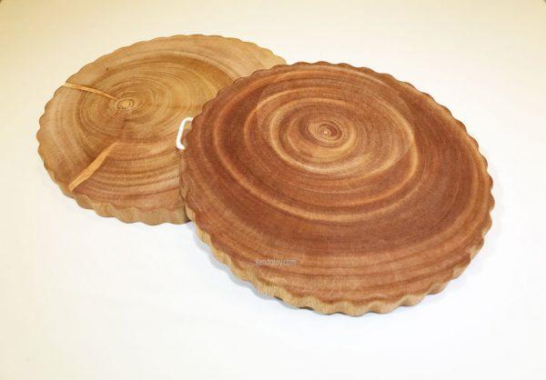 thớt gỗ xà cừ tròn