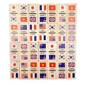 Domino cờ quốc gia bằng gỗ